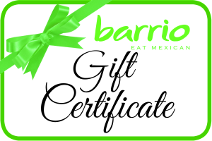 Gift Certificate Barrio